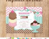 Neapolitan ICE CREAM party invitation - You Print