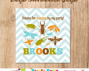 BUGS SILHOUETTE favor tags - YOU Print