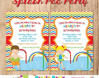 SPLASHPAD PARTY invitation - you print