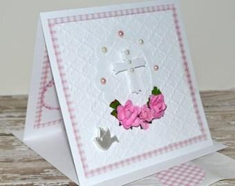 Baptism Card Girl - Christening Card Girl - Baptism Card - Pretty Card - Christening Card