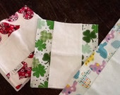 Holiday Burp Cloths, Easter, St. Patricks Day, Valentine's Day, Newborn baby burp cloths, baby shower gift