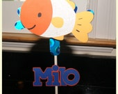Under the Sea, Fish, Personalized Name Topper