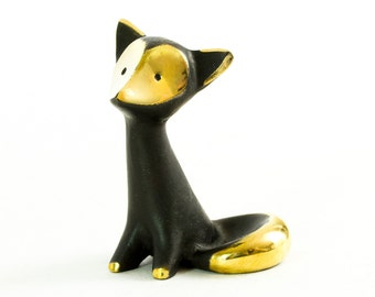 "Walter Bosse Fox - Brass ""Black Gold"" Figurine — ""Fuchs"""