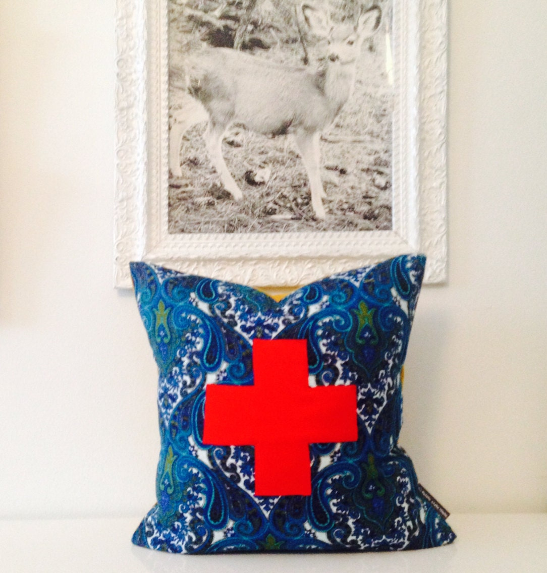 Decorative Pillows With Crosses : Swiss Cross Decorative Pillow Cover 20 x 20 by sheshappydesign