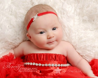 Rhinestone elastic headband, bling headband, PICK COLOR, baby headband, infant headband, newborn headband, girl headband, photo prop, gift