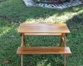 Handmade Children's Picnic Table made of Cedar