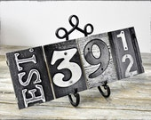 Wedding Date Signn Anniversary Date Sign -  Alphabet Photography,  wedding signage and decor