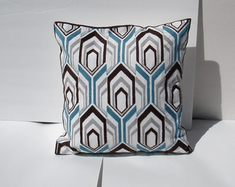 suzani chevron  Decorative Pillow Cover, Toss Pillow, Throw Pillow, Accent Pillow embroidered - floral or geometrical 18 x 18