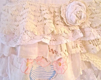 White Shabby Ruffles Toddler Dress