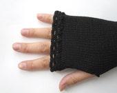 Long Fingerless Gloves for women, Thumbhole Arm Warmers