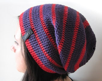 Crochet hat, Beanie hat, Crochet Slouchy Beanie hat