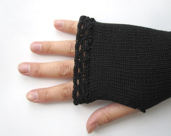 Long Fingerless Gloves for women, Thumbhole Arm Warmers