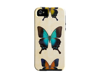 Butterfly iPhone 6s case, blue samsung galaxy case, butterflies orange and yellow iPhone 6 plus case, iPhone 5, pretty cover, under 50