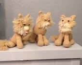 Custom Furry Kitty Amigurumi - Hand Crocheted - made to order