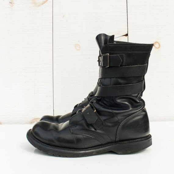 vintage combat tanker boots wrap and cap toed by shopndg