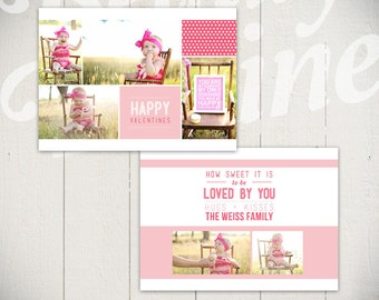 Valentines Day Card Template: How Sweet It Is - 5x7 Baby Valentine Card Template