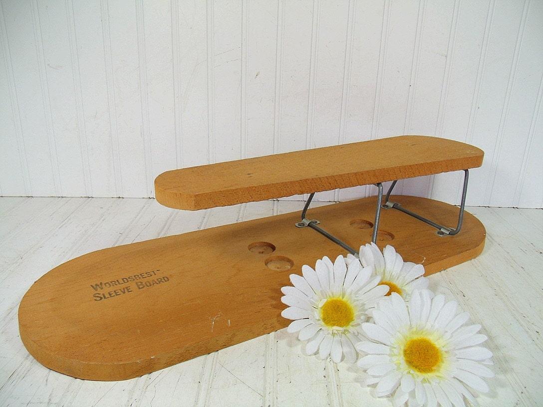 retro world 39 s best sleeve ironing board vintage wooden. Black Bedroom Furniture Sets. Home Design Ideas