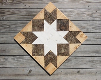 Love In A Mist - 2' x 2' Pieced Wood Barn Square
