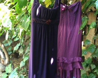 eggplant basil formal purple bridesmaid alternative dark orchid upcycle spring summer wedding dress