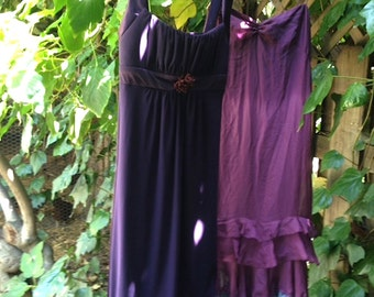 eggplant basil formal purple bridesmaid alternative dark orchid upcycle spring summer wedding dress
