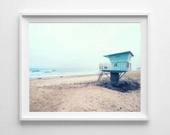 Lifeguard Tower Torrey Pines Beach Decor - San Diego California Coast Surf Art, Beach Decor - Small and Oversized Art Prints Available
