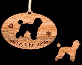Poodle, miniature Poodle, Standard Poodle, Wood Dog Ornament