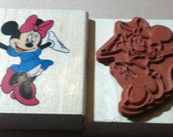 EKSuccess wood base stamps, Minnie Mouse stamp
