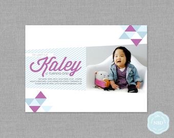Modern Triangle Photo Invitation [Printable | DIY | Digital File]