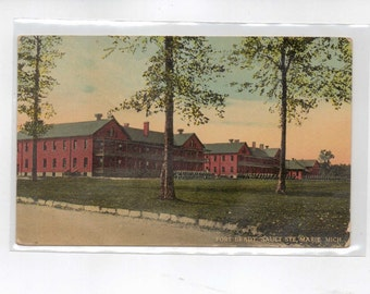 "MICHIGAN, Vintage Postcard, ""Fort Brady, Sault Ste. Marie, Mich.""  1916,  #265"