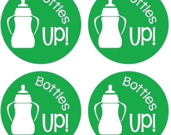 "35 ""Bottles Up!"" Envelope Stickers - Celebrate your new baby with these cute new stickers"