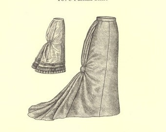 TV225 - Truly Victorian #225, 1878 Fantail Skirt Sewing Pattern