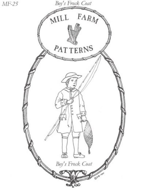 MF25 - finca molino #25, levita costura patrón 1760-1780 niño de ...