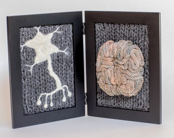 Neurological Study in Wool - Light Grey Background