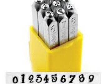 ImpressArt Metal Number Stamping Set,  4mm JEANIE tol0252