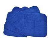 Baby Washcloths Royal Blue 10 Pack