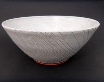 White Serving Bowl - Ceramic Terracotta Bowl