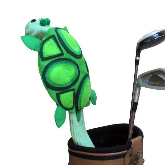 Handmade Turtle Golf Club Cover