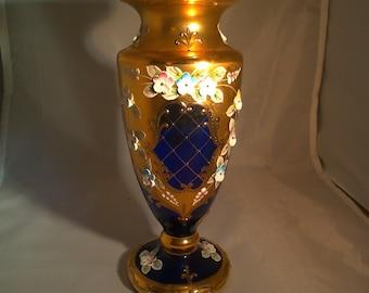 Bohemian Czech Art Glass Vase
