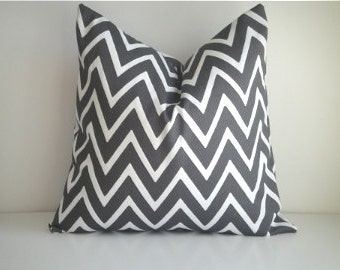 Indoor / Outdoor Designer Pillow In Zapallar Charcoal On Both Sides, Available in Different Sizes