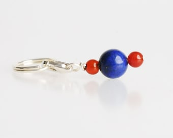 Pet Charm - Sports Charm - Blue and Orange. Pet Accessory for Dogs