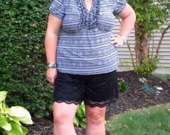 Women's Shorts pdf sewing pattern seamingly smitten, sewing patterns for women, shorts for women pdf sewing pattern, summer shorts pattern