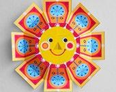 Jolly sun printable kids paper craft