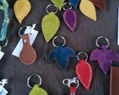 Leather Leaf Key Ring : R...