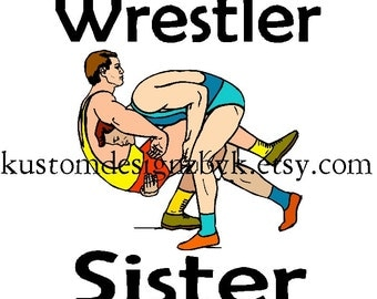 Wrestler sister NEW iron-on shirt transfer decal