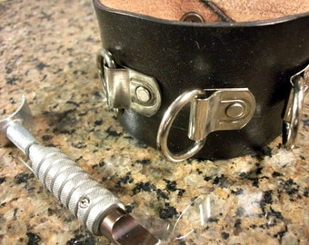 Biker Cuff - Leather Cuff - Biker Bracelet - Motorcycle Accessory - Biker Accessories - Biker Jewelry - Biker Gift - Boyfriend Gift