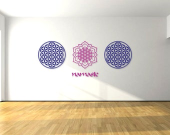 Mandala Wall Decal Etsy - Monogram wall decals for business