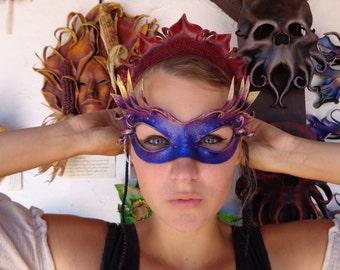 Leather Commedia Columbina Cateye Fairy Mask