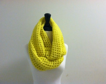 Infinity Crochet Unisex Scarf - RADIANT YELLOW