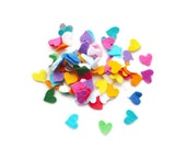 Mini felt die cut hearts pre cut felt shapes haberdashery heart confetti wedding