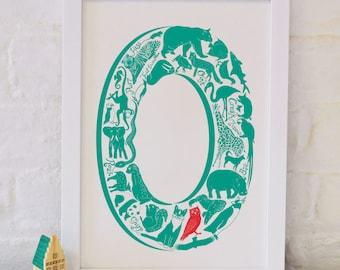 Animal Alphabet Letter O